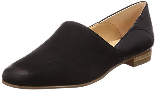 Clarks Damen Pure Tone Slipper, Schwarz (Black Combi), 42 EU