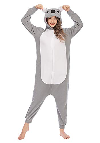 Pijamas Carnaval Unisexo Onesie Adulto Kigurumi Traje Disfraz de Halloween Christmas Gris