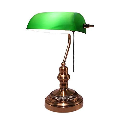 バンカーズランプ バンカーズライト LED電球対応 コンセント式 グリーン テーブルランプ おしゃれ アンティーク 北欧 かわいい レトロ モダン テーブルライト デスクライト ランプ ベッドサイド