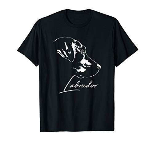 Labrador Retriever Labbi Mama Hund Hundeportrait Hunde T-Shirt