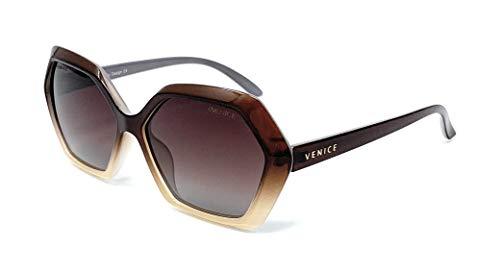 Gafas De Sol Polarizadas Venice OVNI, con Protección UV400… (Brown)
