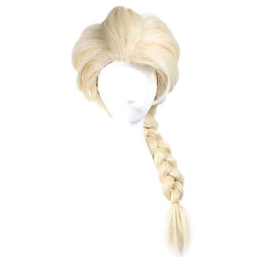 CMMT Perruque Femme Sexy Mignonne Double torsadée et tissée à la Main (Couleur:Marron) (Color : Beige, Size : OneSize)