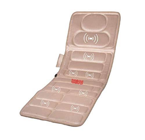 ZOUSHUAIDEDIAN Massage Mat with Heat, 9 Vibration Motors Massage Mattress Pad, Full Body Massager Cushion Relieve Neck, Back, Waist, Legs Pain