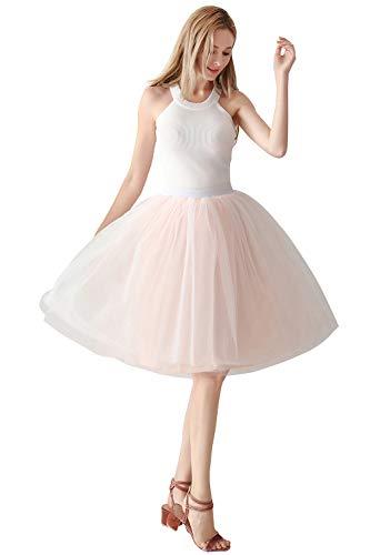 Babyonlinedress® 50s Petticoat Knielang Vintage Retro Reifrock Unterrock Underskirt Crinoline für Wedding Bridal Rockabilly Kleid