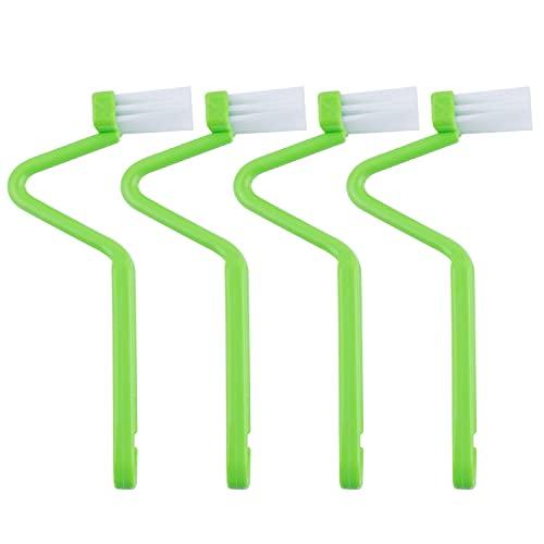 """AUEAR, 4 Pack Curved Toilet Brush 8"""" V Type Plastic Toilet Corner Rim Cleaning Brush Toilet Edge Brush"""