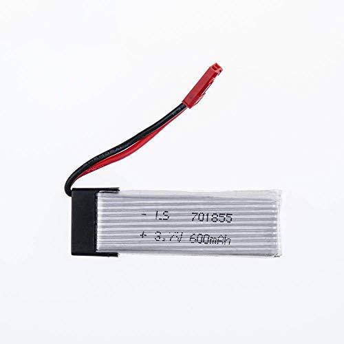 GzxLaY Batería de Respaldo de Alto Rendimiento 2 Piezas UDI 3.7v 600mah li-Poly lipo batería RC u817 u817a u817c u818a 2.4g 4ch 6-Axis Camera Quadcopter Repuestos WLtoys V929