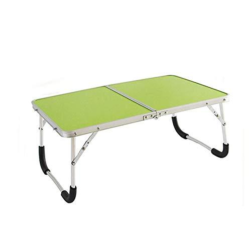 Flystpp Mesa Plegable al Aire Libre Camping Camping Aleación de Aluminio Picnic Mesa Impermeable Ultra-Luz Durable Mesa de Mesa Detectante Escritorio (Color : Green)