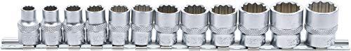 BGS 9105   Juego de llaves de vaso, 12 caras   entrada 10 mm (3/8')   8 - 19 mm   12 piezas