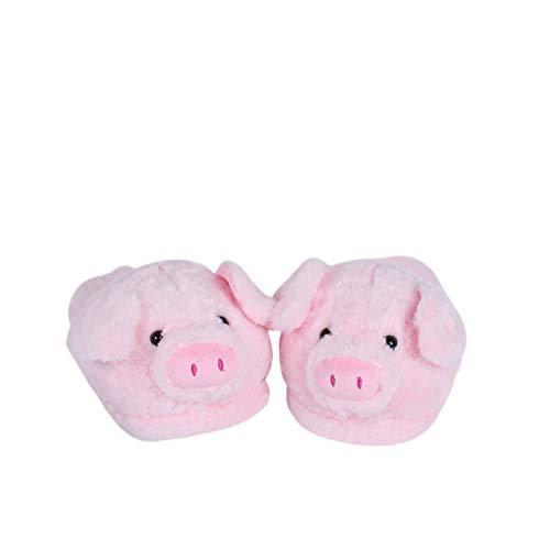 YILANLAN Rosa Schwein Schwein Baumwolle Hausschuhe Paar warme Baumwolle Schuhe Hause Plüsch Boden