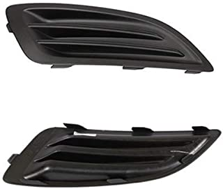 Pair Fog Light Lamp Covers LH and RH (Driver & Passenger) for Ford Fiesta 2013 2014 2015 2016 End Cover