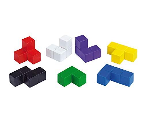 Betzold Soma-Würfel bunt - Räumliches Denken Lernen Geometrie Lernspiel Mathematik