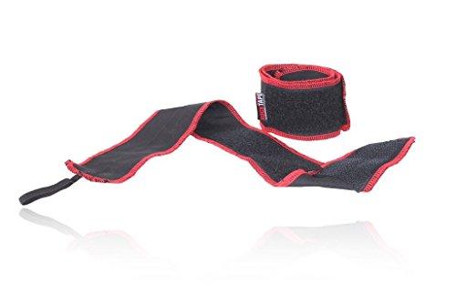RockTape Manifesto RockWrist Wrist Wraps, Gewichtheben, Handgelenkstütze, Handgelenkbandage, rot/schwarz, 6,35 cm x 55,88 cm, 2 Stück, Einheitsgröße