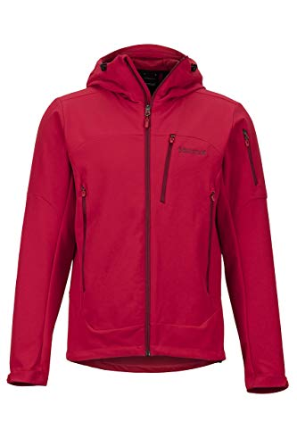 Marmot Herren Moblis Softshelljacke Funktions Outdoor Jacke, Wasserabweisend, Team Red, XL
