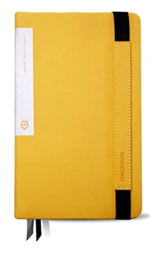 WANDRD Travel Journal Notebook with World Maps, Itineraries, Trip Logs, and Vacation Planning Checklists (Yellow)