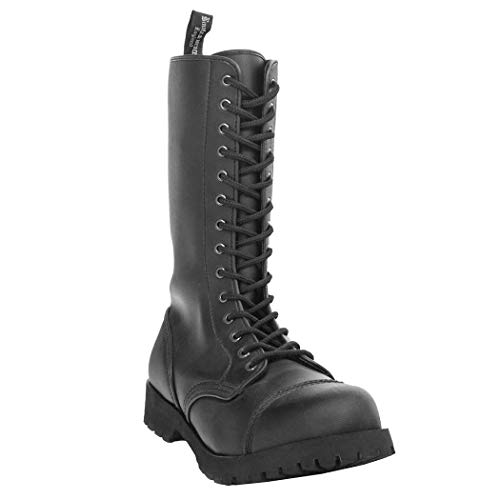Boots & Braces - 14-Loch Vegetarian (Vegi) Schwarz Größe 43 (UK9)