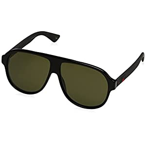 Fashion Shopping Gucci Urban Oversized Sunglasses, Lens-59 Bridge-11 Temple-145, Black / Green / Black