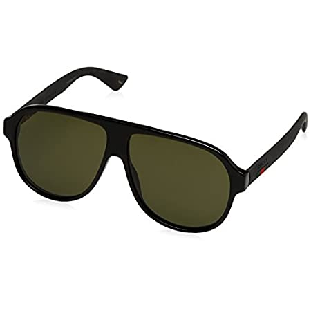 Fashion Shopping Gucci Urban Oversized Sunglasses, Lens-59 Bridge-11 Temple-145, Black / Green / Black