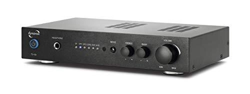 Dynavox Digital-Verstärker TV-50, kompaktes Design, TV-Verstärker mit schraubbaren Anschluss-Terminals, BT-Antenne und Fernbedienung, schwarz