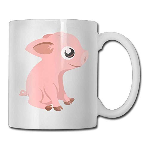 huatongxin Funny Funny Cute Pig. Taza de café 11 Oz Mens Christmas Gifts Tea Cup A Perfect Gift for Your Family and Friends