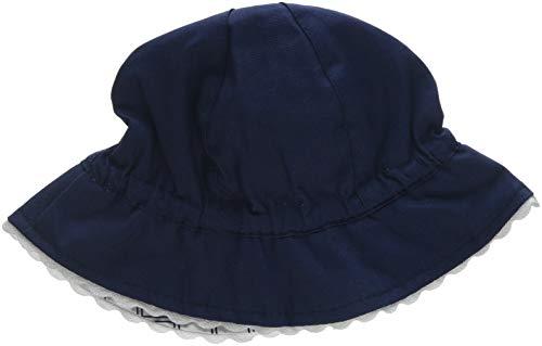 Chicco Baby-Mädchen Cappello Reversibile Sonnenhut, Blau (Bianco E Blu 038), Small (Herstellergröße: 040)