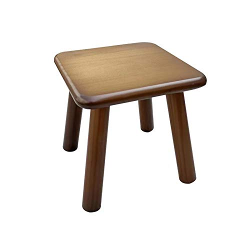 Step Stool, Wooden Stool Small Stool,Multi Purpose Step Stool & Seat for Kids or Adults for Kitchen Bathroom Bedroom Lightweight and Anti Slip,23D *22H