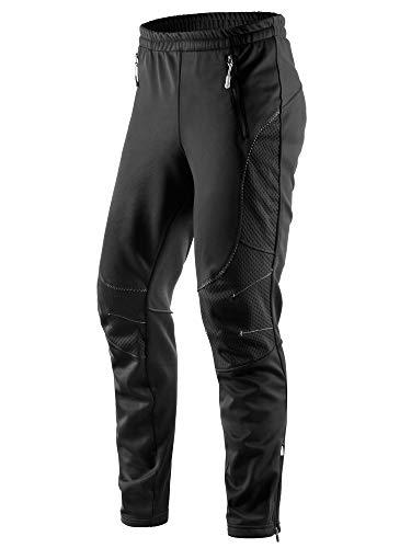 Letook Pantaloni da Ciclismo Lunghi Invernali Antivento Termici Impermeabile per Outdoor Sports Uomo Abbigliamento Inverno da Bici MTB 100232 L