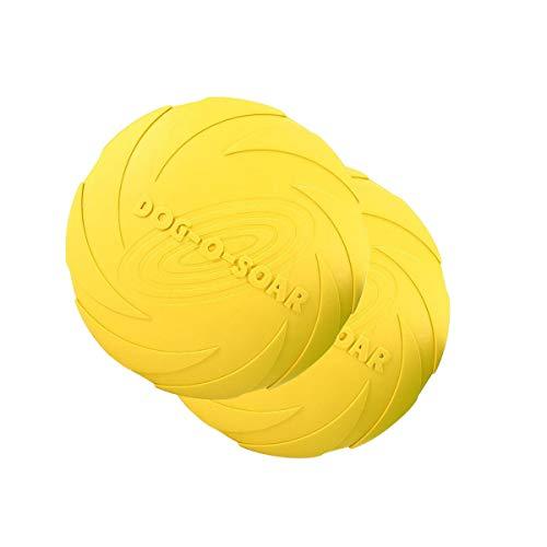 HUI JIN Hunde-Frisbee, langlebig, Gummi, für Land und Wasser