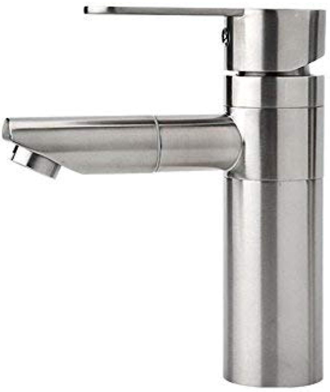 Giow Hhne 304 Edelstahl Waschbecken Wasserhahn rotierenden Wasser einzigen Doppel-Steuerhahn Waschbecken Wasserhahn Badezimmer