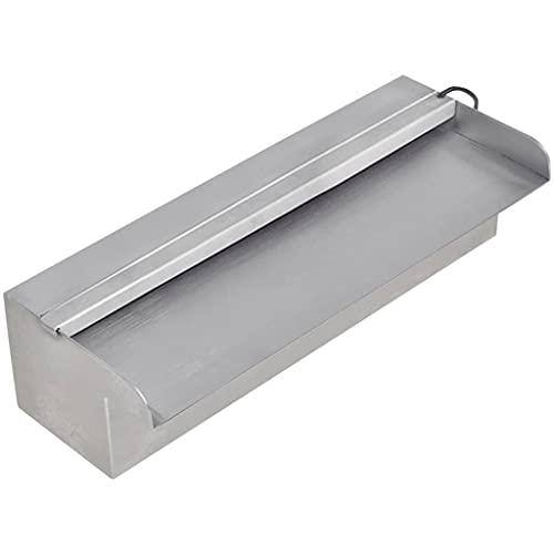 vidaXL Lame d'eau rectangulaire à LED 30 cm acier inoxydable pour piscine bassin