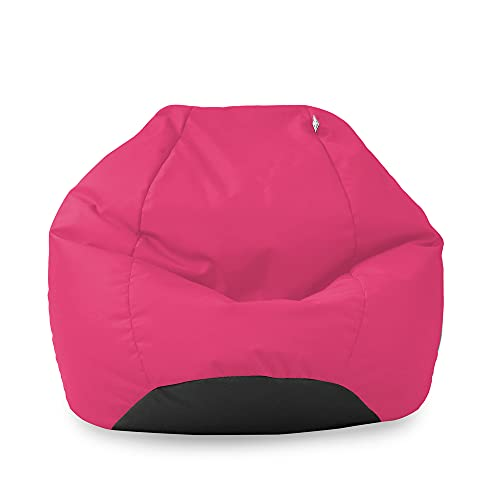 rucomfy Beanbags Kids Classic Cotton Bean Bag. Home or Bed Room Chair. Durable & Comfortable. Machine Washable - 65 x 85cm (Cerise Pink)