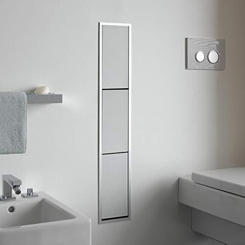 Emco asis WC-Modul (150) MZF, Abfallkorb up, 964mm, ohne Einbaurahmen, Alu/Optiwhite