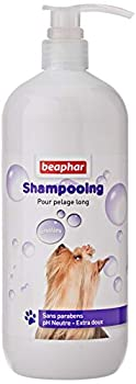 BEAPHAR – Shampoing démêlant bulles pour chien au pelage long – Démêle et nourrit le poils longs – Laisse un pelage brillant et facile à brosser– pH neutre qui respecte l'épiderme – Sans parbens – 1L