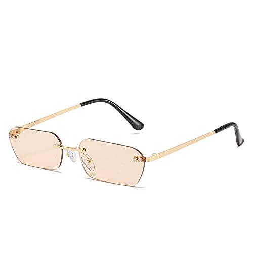 CZBXO Sunglassesocchiali Da Sole Da Donna Senza Telaio Occhiali Da Sole Ellittici Occhiali Da Sole Occhiali Da Sole-Cornice Dorata