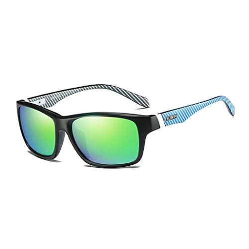 DUBERY Sport-Sonnenbrille for Mann/Frau 100% UV400 HD Fahrreitbrille Winddicht Staubdicht Regenfest/Mehrfarbig D732 (Color : #3)