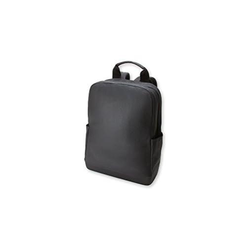 Moleskine - Zaino Classic in Pelle, Zaino Porta PC per Laptop, Tablet, Notebook, iPad e Computer fino a 15'', Dimensioni 32 × 42 × 11 cm, Colore Nero