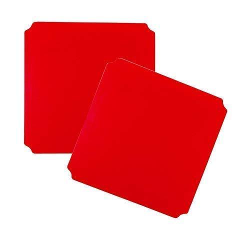 Moveandstic 2er Set Platte rot 40x40 cm