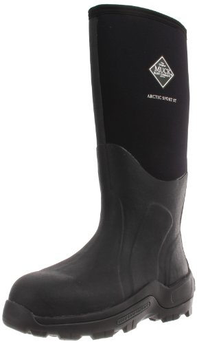 Muck Arctic Sport High Performance Tall Steel Toe Insulated Men's Rubber Work Boots,Black,14 M US