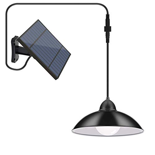 MJJLT Solar Shed Lights Outdoor Portable LED Solar Hanging Light with Remote Control Adjustable IP65 Waterproof Wall Lamp for Garden Yard Porch Patio