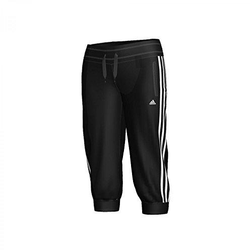 adidas Damen 3/4 Knit Hose Essentials 3S, schwarz/weiß, XXS, X13215