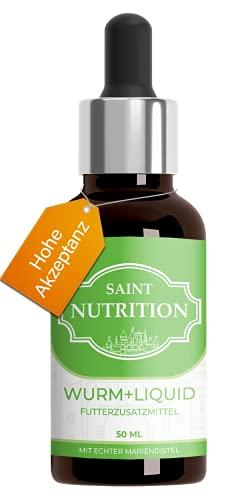 Saint Nutrition® Liquide vermifuges intestinaux végan Anti-vers pour Animaux – particulièrement conseillé pour Chiens et Chats, Vermifuge intestinale Naturel pour Chien & Chat, Contient 50 ML