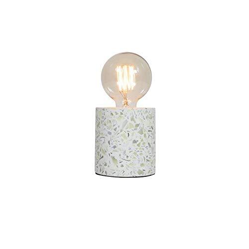 Msoteey Accesorio de iluminación Nordic simple titular de terrazo tabla creativa de la lámpara E27 lámpara que se utiliza en la sala de estar, comedor, dormitorio, estudio, cocina, Mesilla de noche, b