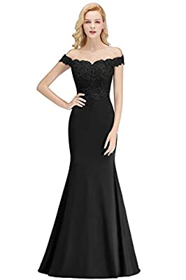 MisShow Off-Shoulder Mermaid Long Evening Formal Prom Dresses for Women