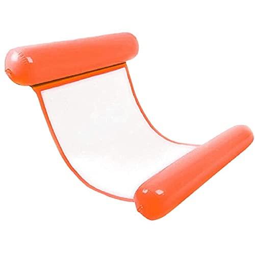 FYRMMD Hamaca inflable con la red, silla flotante del respaldo plegable del pvc más grueso, herramientas de agua del reclinador de la diversión del drenaje
