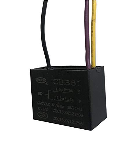 Movilideas Cbb61 1.5 Uf + 2,5 Uf 3 Cables 450Vac Ventilador De Techo Condensador