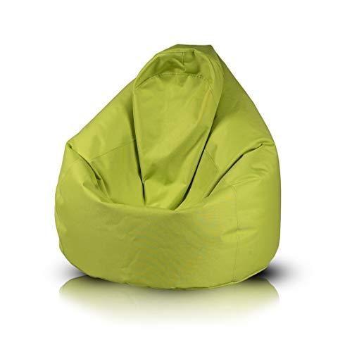 Ecopuf Fuzzy Poltrona Sacco da Interno e Esterno - Pouf in Poliestere Imbottito Antimacchia - 80x110cm