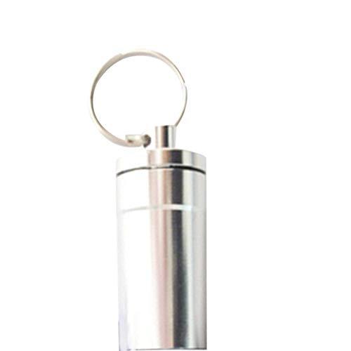 Szseven Organizadores De Píldoras De Aluminio Botella Peque