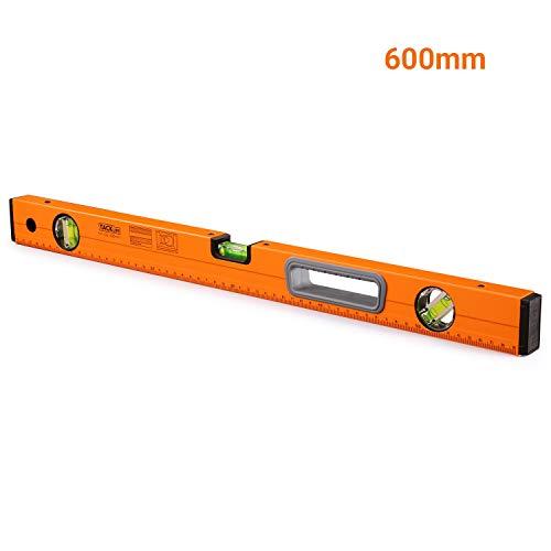 Wasserwaage MT-L02 Magnetisch Horizontaler Vertikaler 45 Grad Libelle (Genauigkeit: 0.75 mm / m Größe: 600 mm)