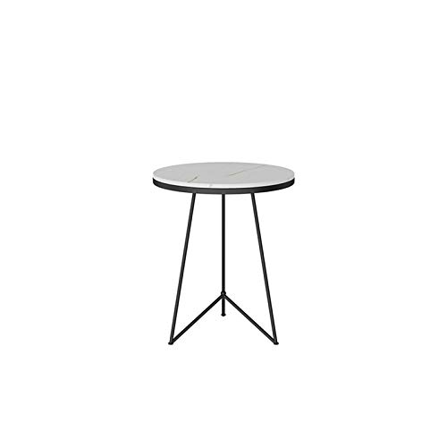 Table family C-S-Qing-Escritorio Mesa De Centro De Ocio De Una Sola Capa, Mármol Artificial Mesa De Café Redonda Cafetería Bar Mesa De Comedor Mesa De Mesa Multifunción(Size:50 * 50 * 60CM,Color:B)