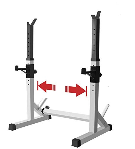 EFGS Adjustable Squat Rack, Multifunction Sturdy Bench Press Equipment, Household Barbell Stand