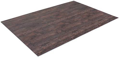 Creation Gross 6 Stück Bodenschutzmatte Holzoptik nussbaum, 60x60*1cm, inkl. 12 Randstücke, Eva Schaumstoff, Gesamtfläche: ca.124cm x 186cm / 2,3m²